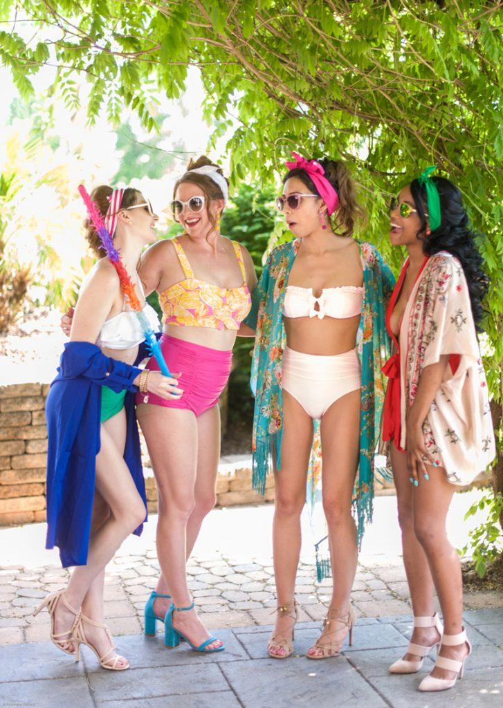 vintage cabana bathing suits and fashion