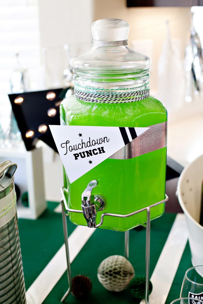 Green Football Party Punch