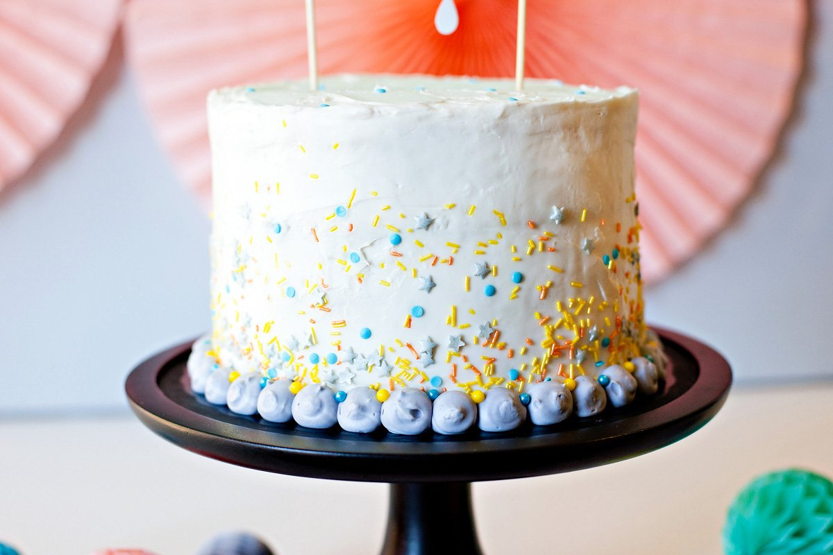 Cake Sprinkles - Blue Orange Yellow