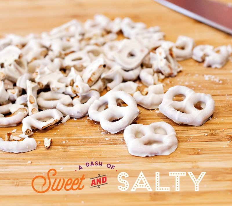 White Chocolate Pretzels Chopped