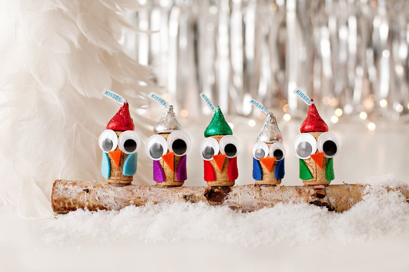 cute holiday owl gift toppers DIY