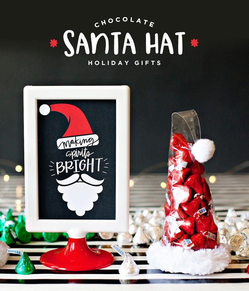 DIY Santa Hat Holiday Gift Idea