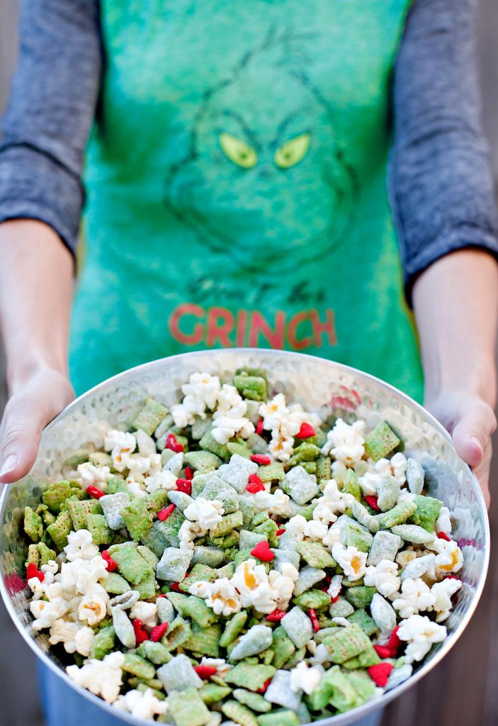 Red and Green Grinch Holiday Snack Mix