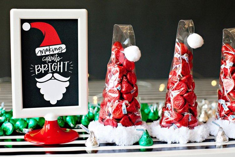santa hat edible holiday gifts