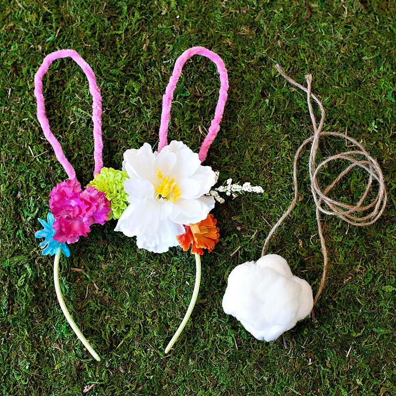 DIY Bunny Flower Headband