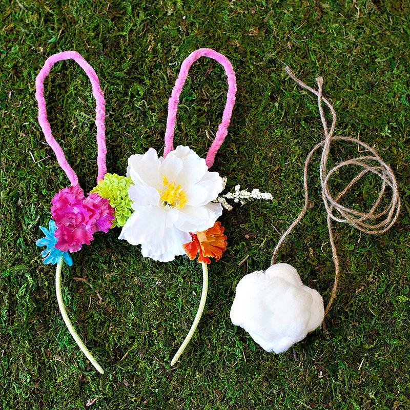 DIY Bunny Flower Headband