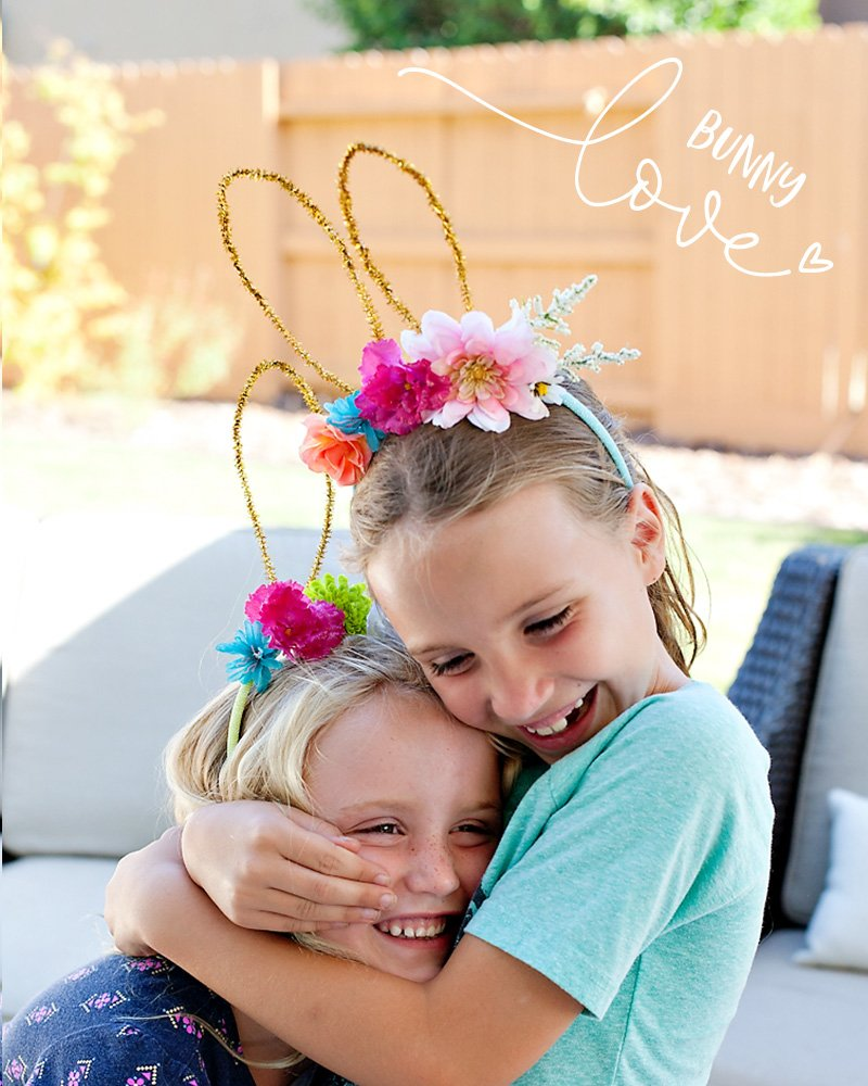 DIY Bunny Ears Flower Headbands