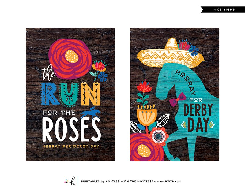 Cinco de Derby Printables - 4x6 Signs