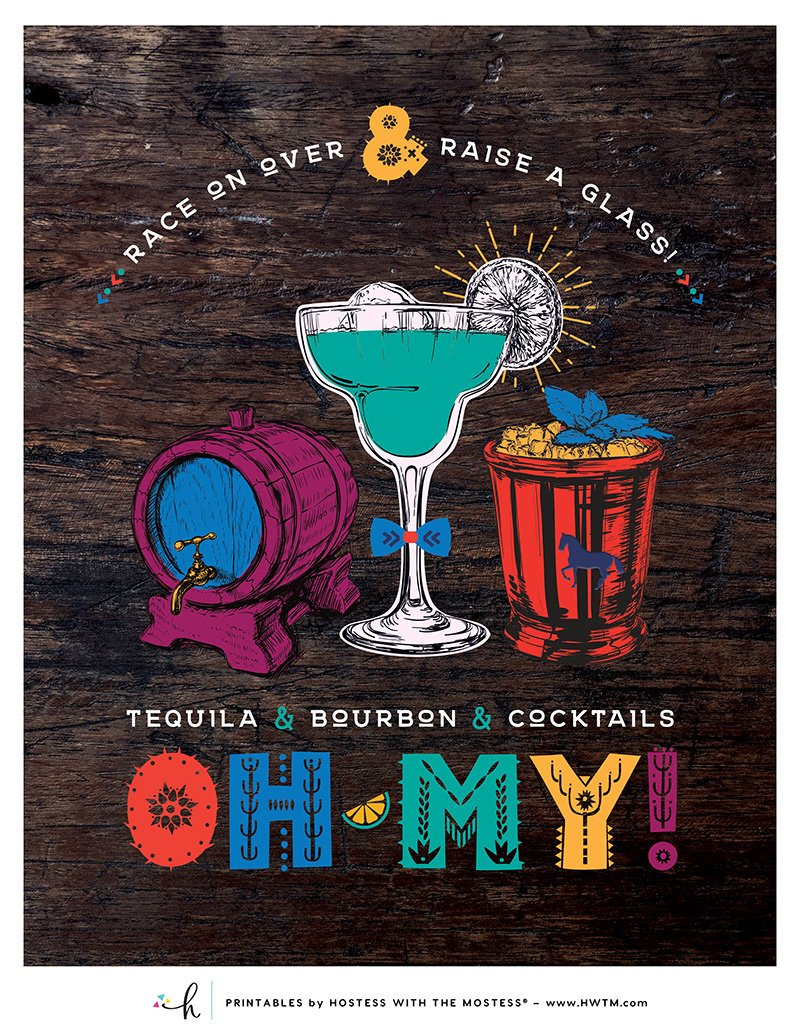 Cinco de Derby Printables - 8x10 Drink Sign