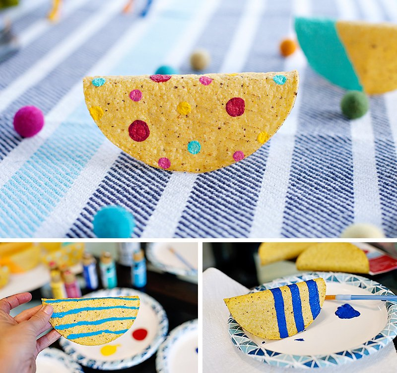 DIY painted taco shells