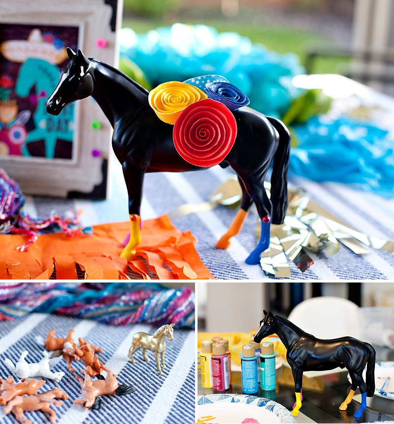 Derby de Mayo Centerpiece Ideas - Horses