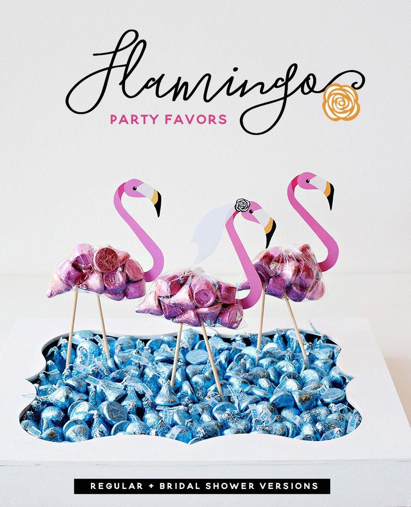 DIY Flamingo Party Favors - Free Printables