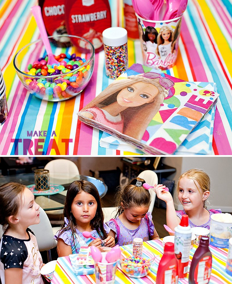 Barbie Party Ice Cream Station