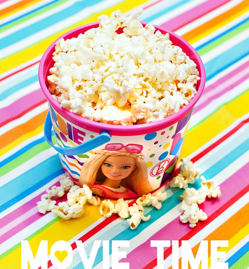 Barbie Party Movie Popcorn Bucket