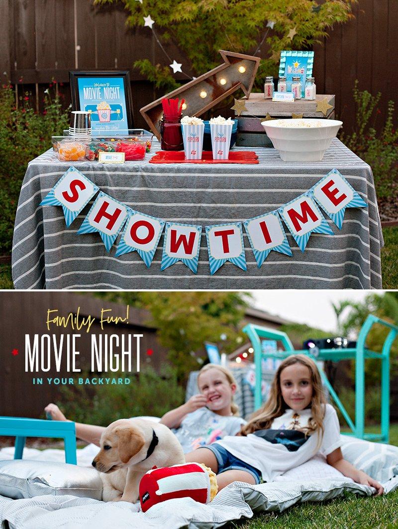 Backyard Movie Night Free Printables