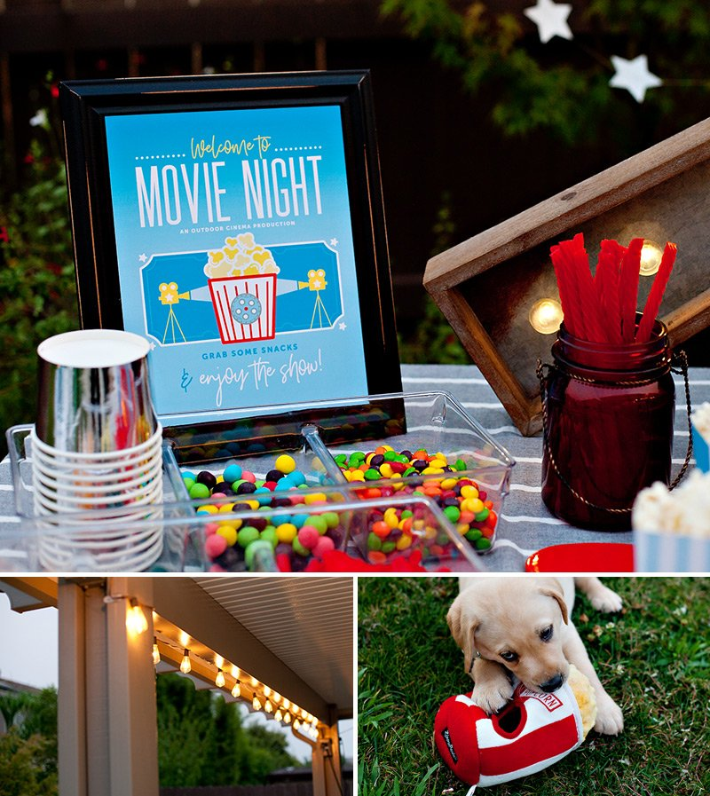 Backyard Movie Night Sign
