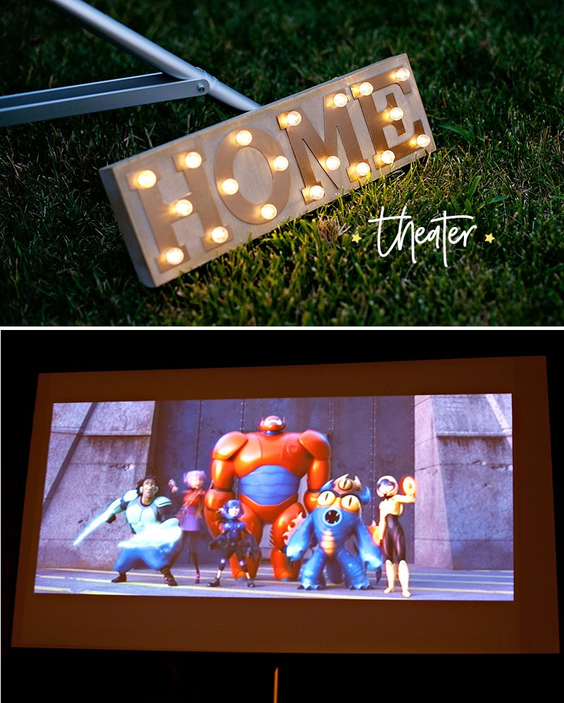 Backyard Movie Night Screen