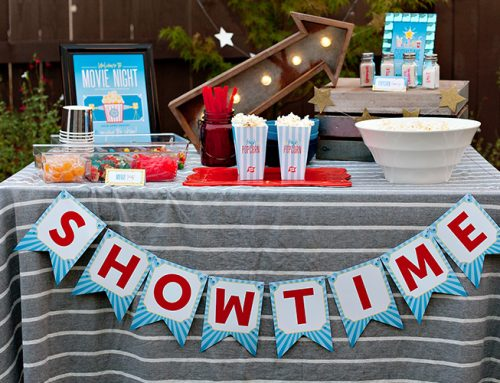 Backyard Movie Night Ideas & Printables!