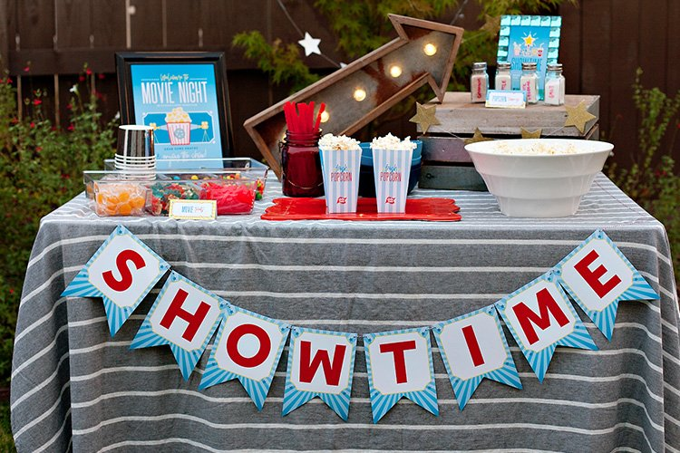 Backyard Movie Night Ideas + Free Printables!