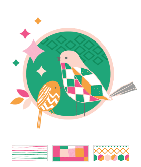 Geometric Bird Baby Shower