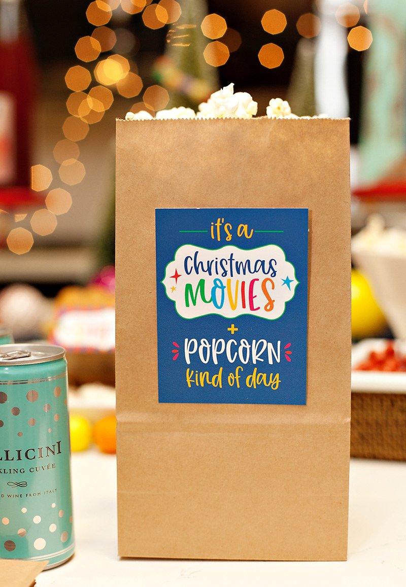 Christmas Popcorn Bags