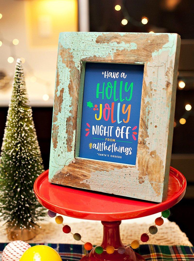 Funny Printable Christmas Party Sign