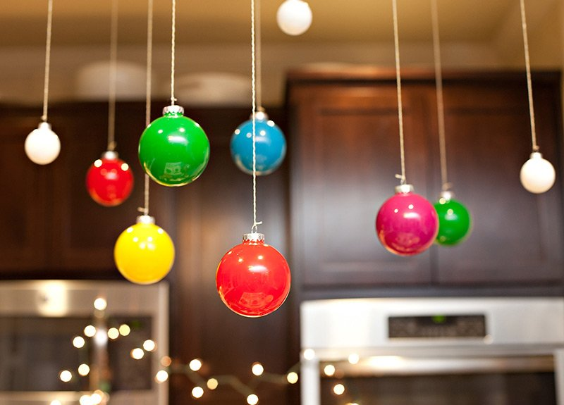 colorful ball ornaments ceiling decoration