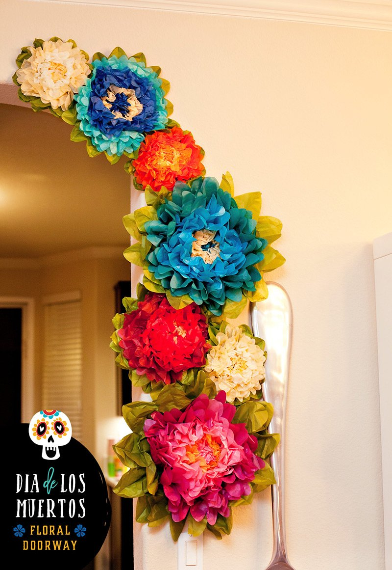 Dia de los Muertos Floral Doorway Decorations