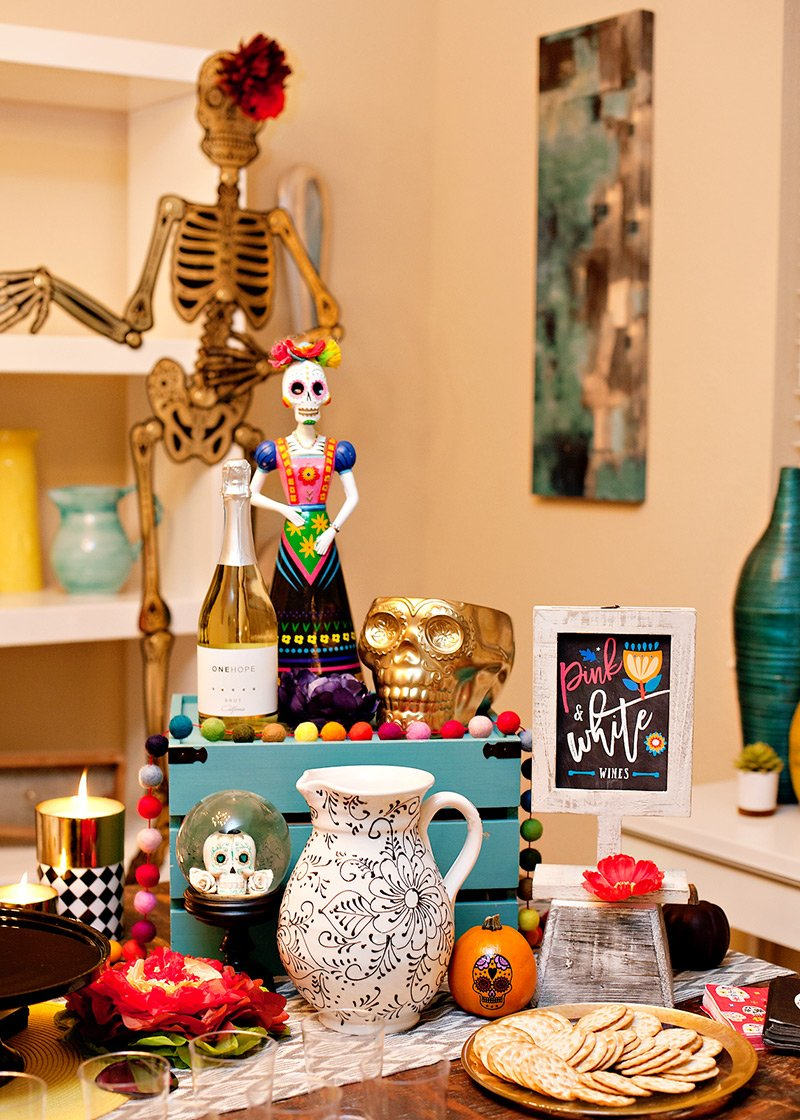 Day of the Dead Party Wine Station