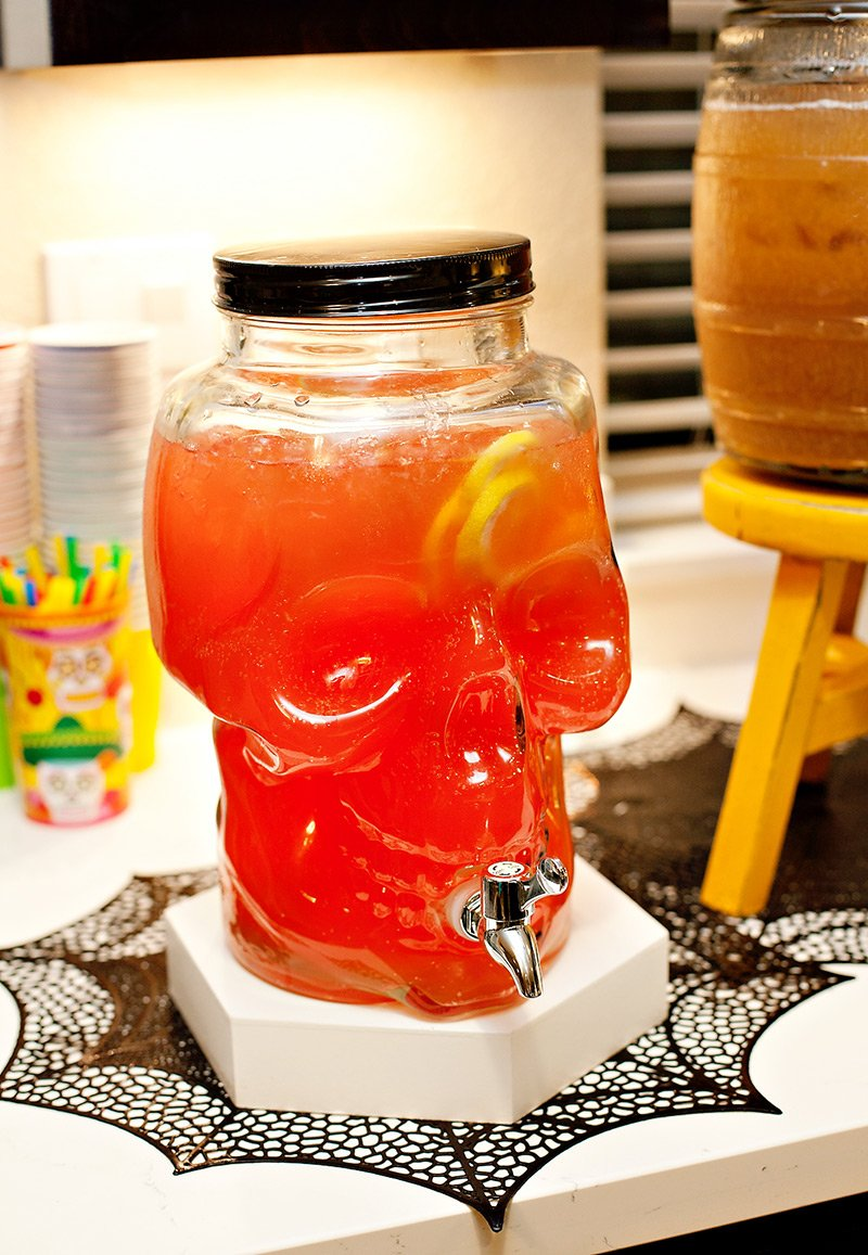 Skull Drink Dispenser with Mexican Punch