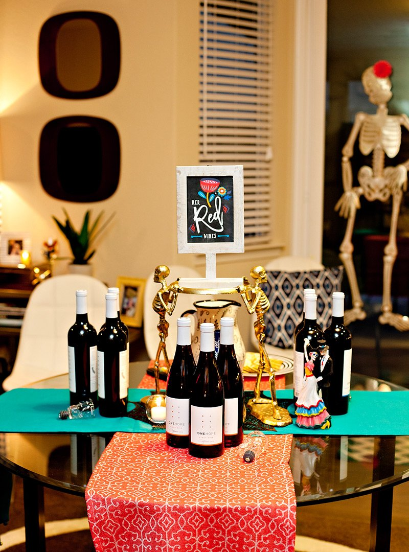 Day of the Dead Wine Tasting Party - Red Wine
