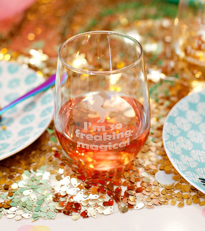 Magical Unicorn Wine Glasses