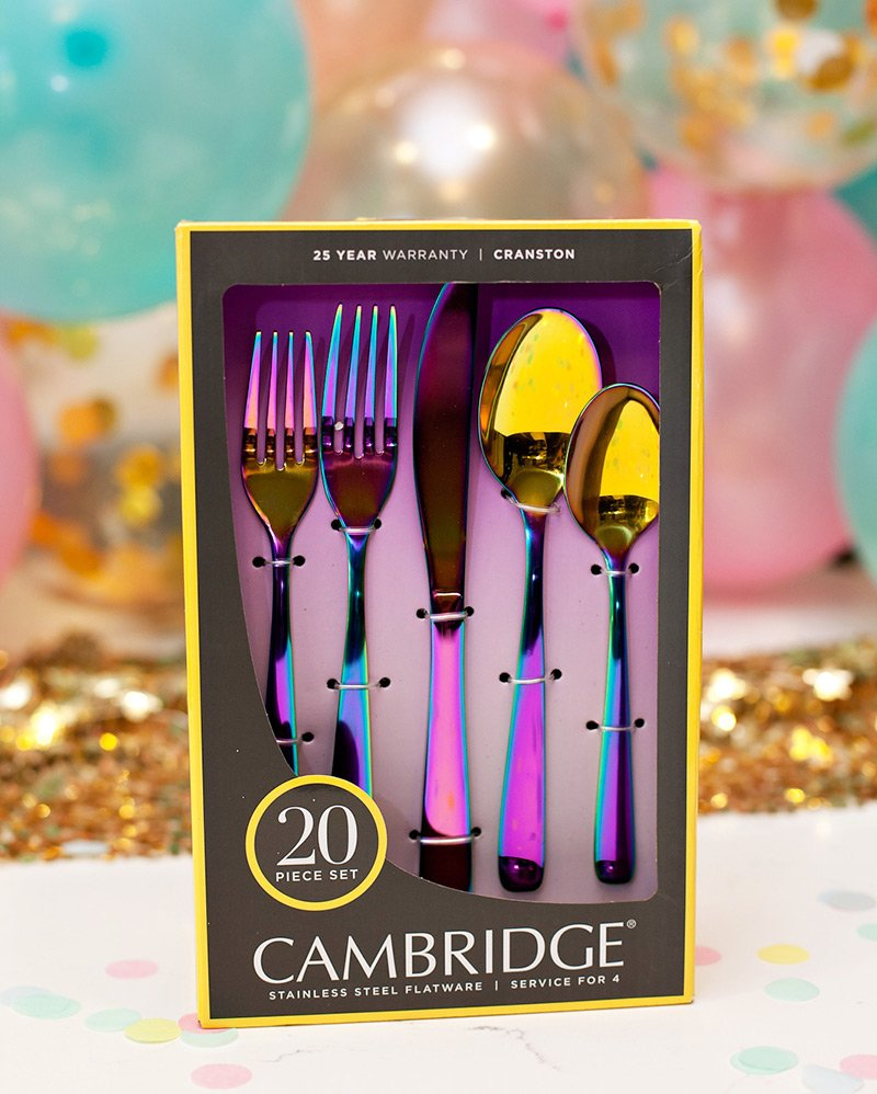 Rainbow Mirror Flatware - Unicorn Utensils