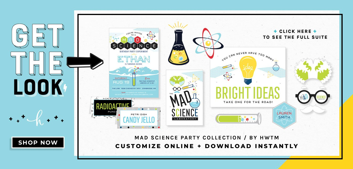 Science Party Printables