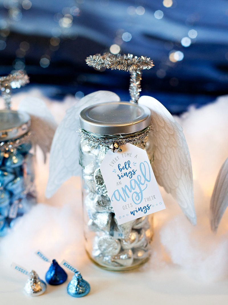 DIY Angel Holiday Gift Jars + Printable Tags