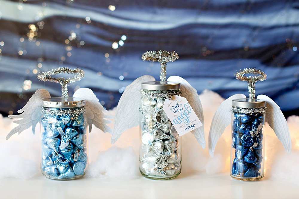 DIY Jar Angels with Gift Tags