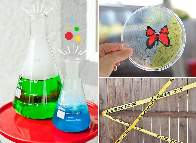 easy science party decorations