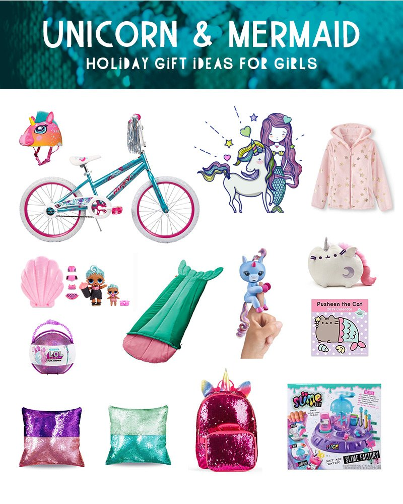 Holiday Gift Guide for Girls - Unicorns & Mermaids