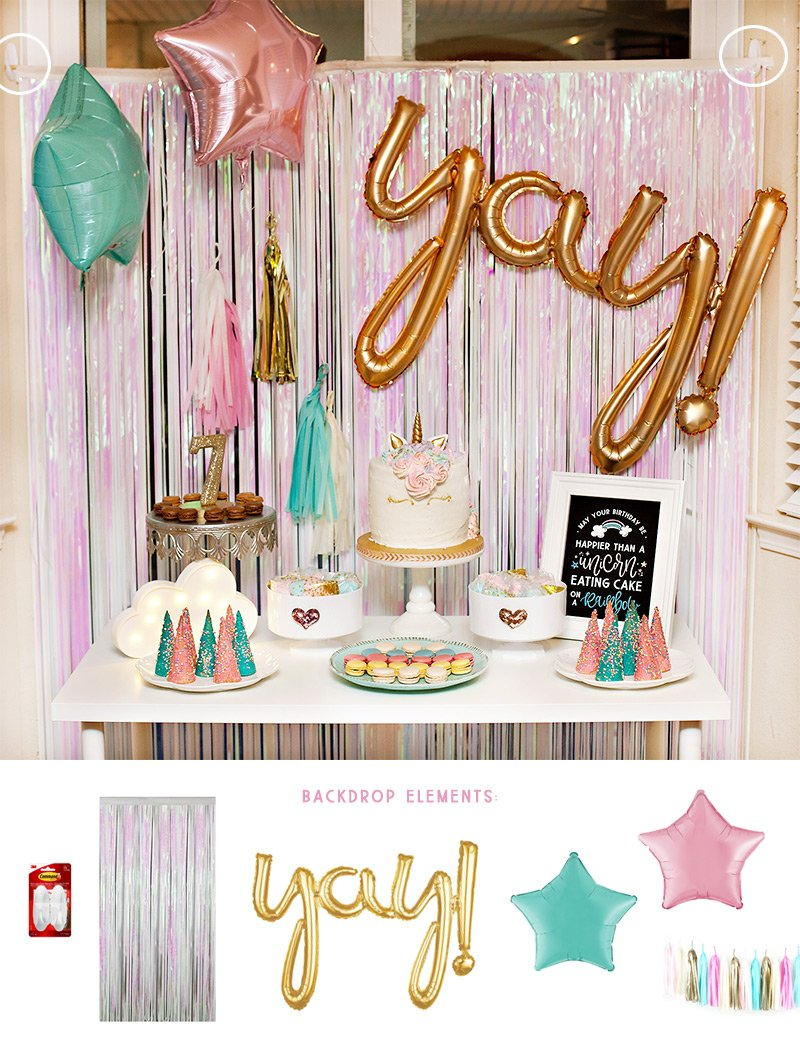Unicorn Party Dessert Table Tutorial