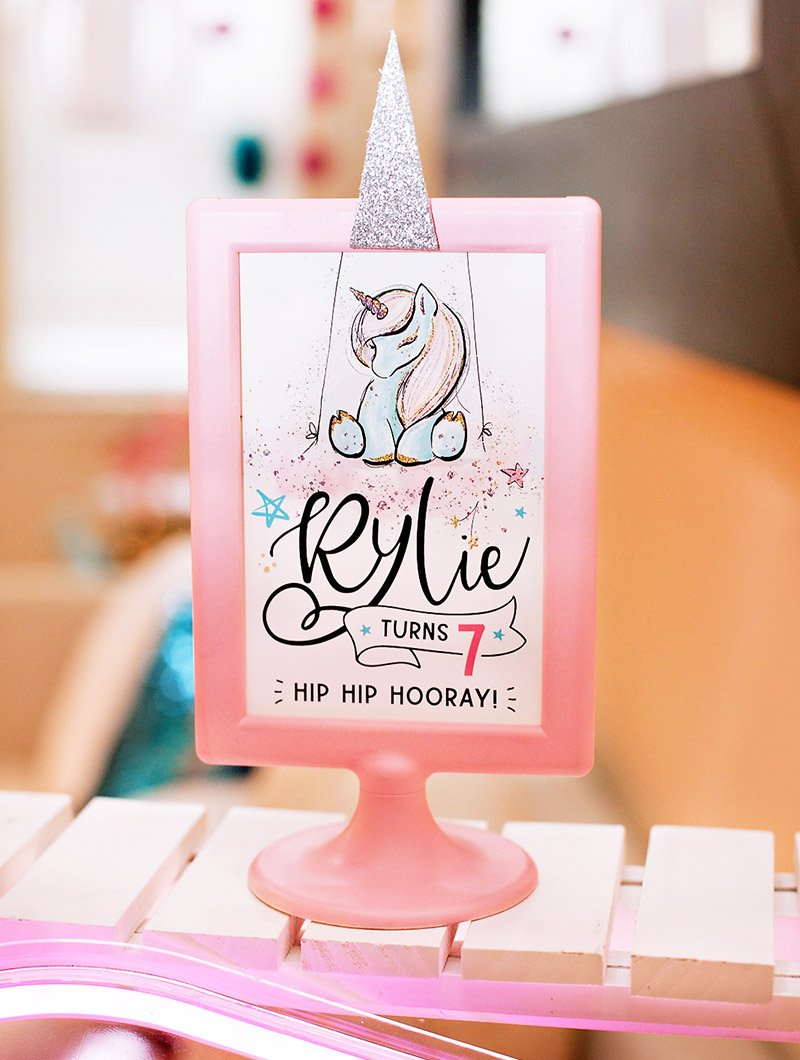 unicorn party printable sign
