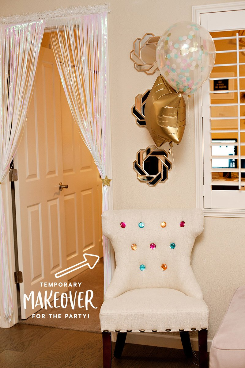birthday party chair makeover