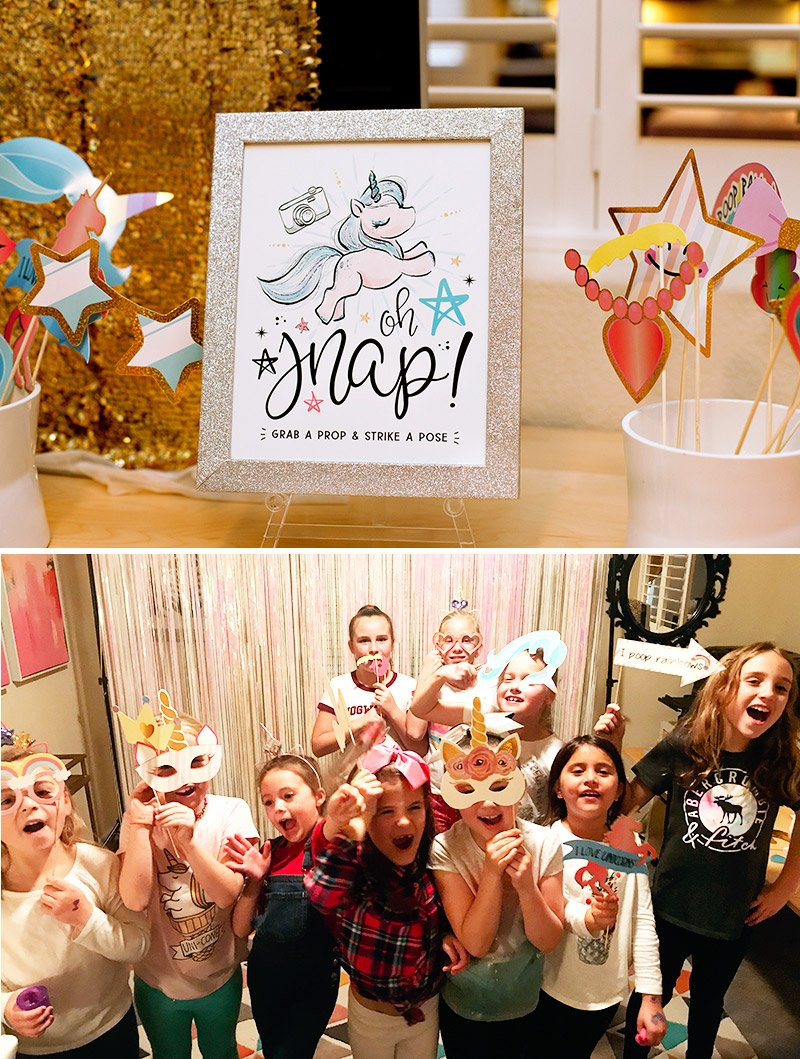 unicorn party photo booth and props