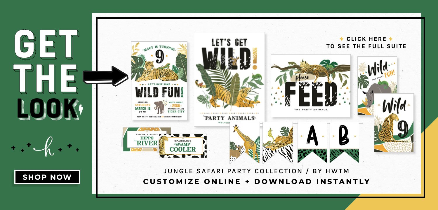 Jungle Safari Party Printables