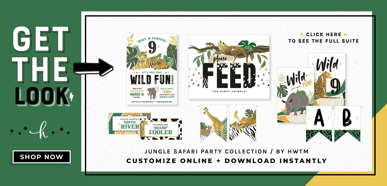 Jungle Safari Party Printables