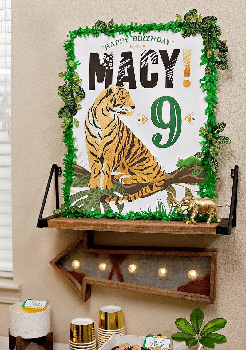 Wild Animal Party Printable Sign
