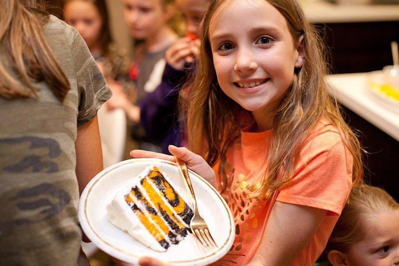 Tiger Stripes Birthday Cake