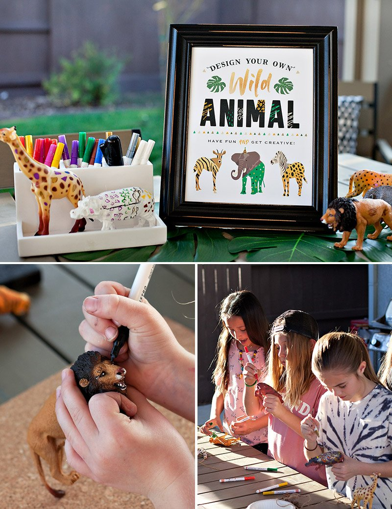 Jungle Safari Party Activity Idea - Plastic Animals