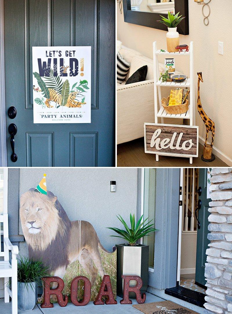 Wild Animal Party Door Sign