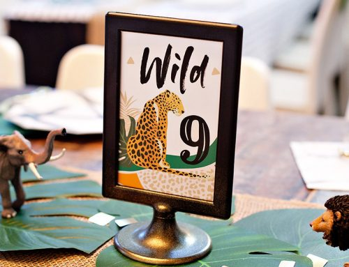Bold & Modern Jungle Safari Birthday Party