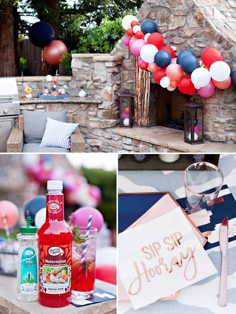 modern garden cocktail party ideas